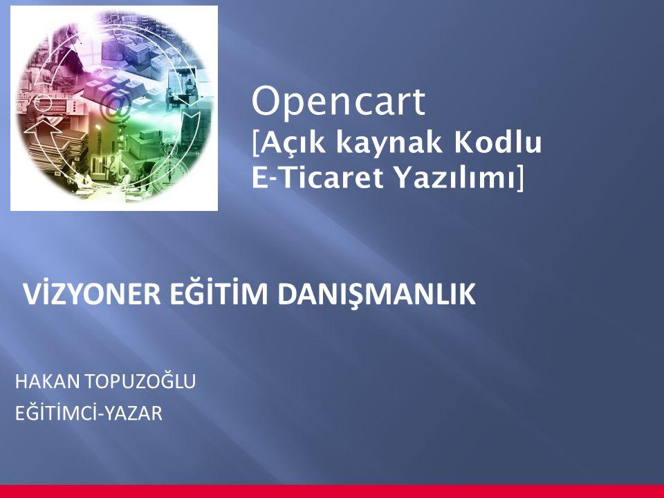 Opencart VİZYONER EĞİTİM DANIŞMANLIK [Açık kaynak Kodlu